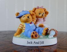 "Bronson Collectibles Nursery Rhyme Bears ""Jack and Jill"" (1995) by ZacInTheBoxVintage on Etsy"
