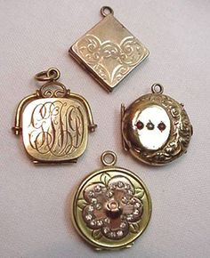 I want antique lockets to string on my wedding bouquet. They'll hold pictures of deceased loved ones. I'm going to start checking every thrift store in the area!!