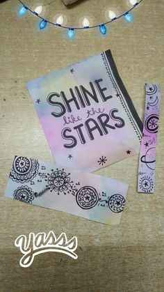 shine like the star!! doodle art color merge colours water color