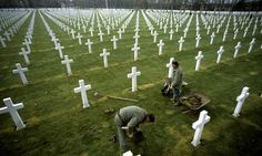 A first world war cemetery in France. President Hollande says the centenary commemorations will be  one of the 'great events' of his leaders...