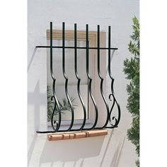 Wrought Iron Window Boxes, Wrought Iron Garden Gates, Wrought Iron Decor, Window Grill Design Modern, Balcony Grill Design, Window Design, Iron Windows, Iron Doors, Window Security Bars