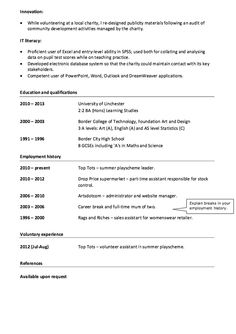 Example Of Cv Brilliant Sample Cv With Photos  Httpresumesdesignsamplecvwith .