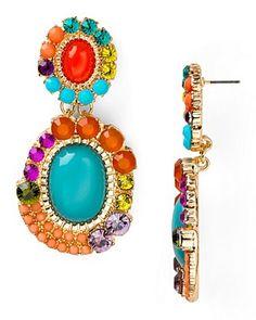 Aqua Cluster Double Drop Earrings | Bloomingdale's