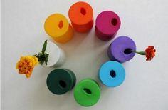 DIY Balloon Flower Vase  how to make --> goodshomedesign.com/diy-balloon-flower-vase/