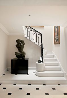 10 cantos decorados pela arte - Casa Vogue | Ambientes  Escultor: Vasco Prado.  Pintor: Di Cavalcante (por vota dos anos 1960)