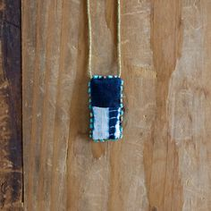 African Indigo Textile Talisman Necklace - by SeeRealFlowers on #Etsy