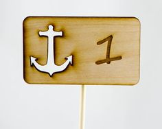 Anchor Rustic Wood Table Numbers Nautical Theme by JDBmercantile, $8.00