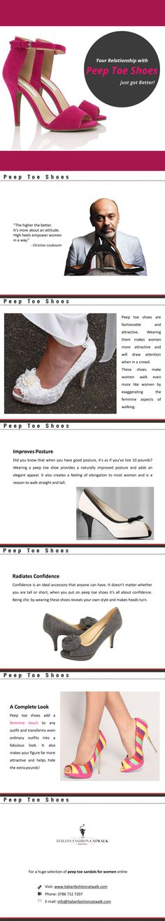Peep Toe Sandals for Women - Italian Fashion Catwalk  -  Italian Fashion Catwalk provides accessories, ankle boot, peep toe sandals for women and more at an affordable price without any loss in quality. To browse their latest collection visit http://www.italianfashioncatwalk.com/