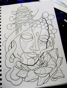 buddha sketch tattoo - Pesquisa Google