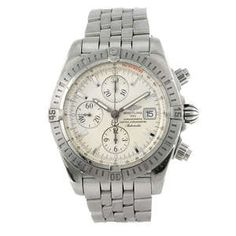 LOT:13   BREITLING - a gentleman's stainless steel Chronomat Evolution chronograph bracelet watch.