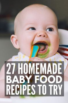 21 Homemade Baby Food Recipes | While introducing solids to baby can be overwhelming, we're sharing our best tips and hacks to teach you how to make it FUN! We've included our favorite products and storage systems to make the process as easy as possible, as well as 21 delicious puree combinations your little one will love. These simple combos take apples, bananas, carrots, butternut squash, spinach, avocado, and more to a whole new level! #homemadebabyfood #babyfood #babyfoodrecipes Baby Puree Recipes, Baby Food Recipes, Food Baby, Mom And Baby, Baby Love, Baby Baby, Baby Food Combinations, Steamed Sweet Potato, Baby Food Containers