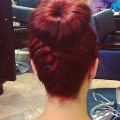 braided buns Cherry Red Braid Bun - Hairstyles and Beauty Tips Braided Bun Hairstyles, Pretty Hairstyles, Braided Hairstyles, Braided Buns, Messy Buns, Everyday Hairstyles, Wedding Hairstyles, Locks, Curly Hair Styles