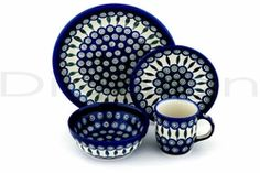 Polish Pottery - Blue Peacock pattern (I collect serving pieces in this pattern - love!)