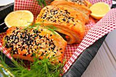 Folhados de salmão/Salmon and herbs rolls