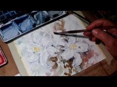 Hedwig's Art watercolor flowers, poppies painted in a smooth way - YouTube