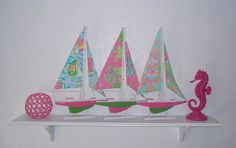 Lilly Pulitzer Sail Boats!  Must Have for my collection! ~xx
