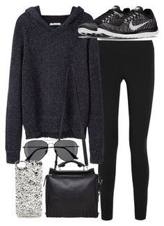 """""""Untitled #17711"""" by florencia95 ❤ liked on Polyvore featuring Helmut Lang, T By Alexander Wang, NIKE, 3.1 Phillip Lim, H&M and Marc by Marc Jacobs"""
