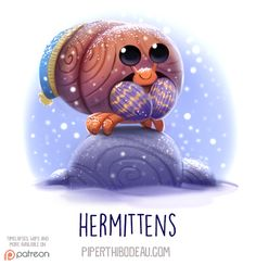 Daily Paint 1537. Hermittens by Cryptid-Creations.deviantart.com on @DeviantArt