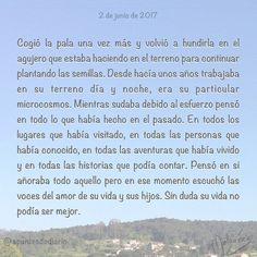 2 de junio de 2017 : #MicrocuentoZ #: #vida #campo #amor #felicidad #microcuento #microcuentos #microcuentos2017 #microrrelato  #apuntesdediario #cuento #breve #literatura #relato #texto #text #artistsoninstagram  #junio #june #201706 #mediodia #noon #cielo #blue #azul