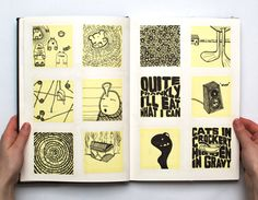 Post-it Pages - sketchbook starter - have the background textured! would be great in art journal