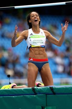 Katarina Johnson-Thompson  Rio 2016 Olympics Long Jump, High Jump, Katarina Johnson Thompson, Heptathlon, Sports Personality, Olympic Athletes, Rio Olympics 2016, Love Fitness, Sporty Girls