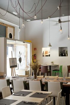 RASOTERRA. Palau 5 ,08002, Barcelona. Eatingat Rasoterra involves becoming part of a particular philosophy: specializing in vegetarian and vegan cuisine, the bistro is a symbol for the Slow Fo
