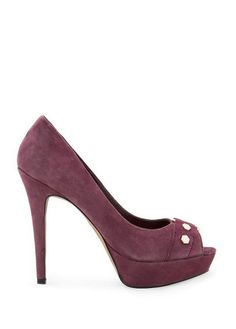 MANGO - SHOES - TOUCH - Suede peeptoe shoes