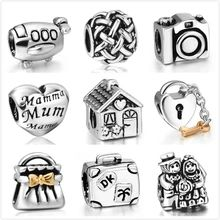Wholesale latest online Fashion 925 Sterling Silver Charm European Charms Bead Fit diy Female Jewelry Snake Chain Bracelet(China (Mainland))