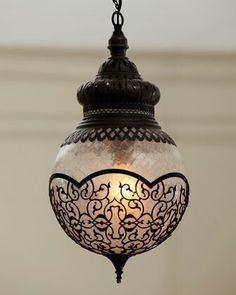 """""""Marrakech"""" Pendant - Horchow from Horchow. Saved to Gift Of Light. Shop more products from Horchow on Wanelo. Decor, Pendant Chandelier, Lanterns, Light Fixtures, Lights, Beautiful Lighting, Pendant Light, Light, Neiman Marcus Home"""