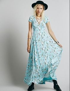 Free People Opal Sunday Maxi Dress #FreePeople #Maxi #Casual