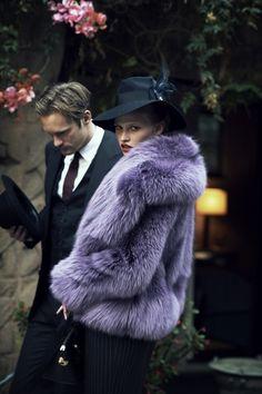 Faux... #purple #fur #jacket