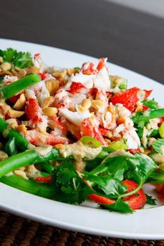THAI GREEN BEAN & CRAB SALAD.