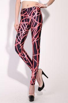 Neon Stripes Leggings