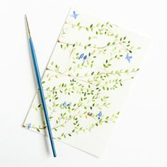 Learn a simple, surprising technique for painting watercolor tree branches! A perfect Sunday project that will take all of 10 minutes.
