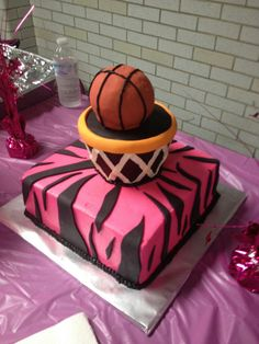 Girls Basketball Cake