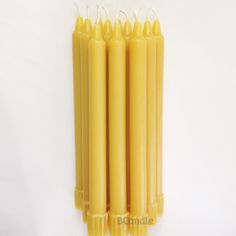 BCandle 100% Beeswax Candles Organic Hand Made - 8 Inch Tall, 3/4 Inch Diameter