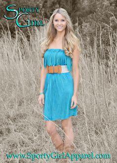 Sporty Girl Apparel - Fringe western jade dress, $39.95 (http://www.sportygirlapparel.com/fringe-western-jade-dress/)   #fringedress #westerndress