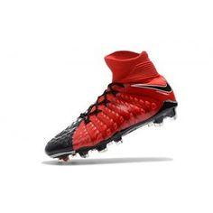 free shipping 0068d c1460 Best 2017 Nike Hypervenom Phantom III DF FG Online Red Black Football Shoes