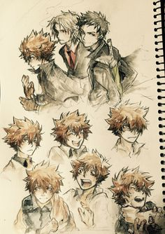 my sketchbook is like 90% tsuna by now?? [sweats] here's a bunch of older tsunas because