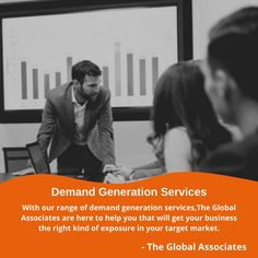 With our range of demand generation services, The Global Associates are here to help you that will get your business the right kind of exposure in your target market. #demandgenerationservices #b2bleadgeneration #b2bsales #leadgenerationservices