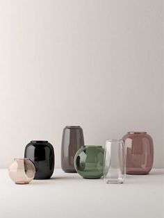 Hand Blown Glass, Form Vases by Lyngby Porcelæn Interior Accessories, Interior Styling, Interior Design, Bedroom Minimalist, Glass Ceramic, Vintage Design, Glass Design, Home Deco, Glass Art