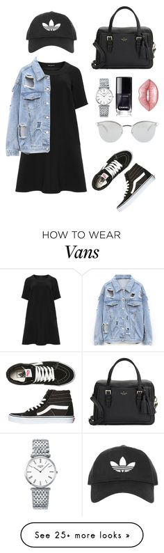 """simplicity"" by mynameissari on Polyvore featuring Manon Baptiste, Vans, Kate Spade, Fendi, Topshop, Longines and Lime Crime"