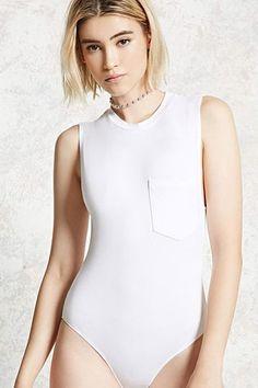 Sleeveless Pocket Bodysuit