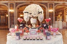 bar bonbons mariage romantique idée créative thématique conte fée