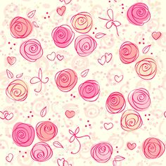 7463763-seamless-floral-light-vector-background--Stock-Vector-pink-wallpaper-pattern.jpg (1300×1300)