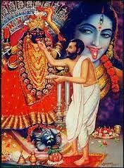 Ramakrishna pooja to Kali Maa Mother Kali, Divine Mother, Kali Hindu, Hindu Art, Shiva Art, Shiva Shakti, Durga Maa, Om Namah Shivaya, Kali Mata