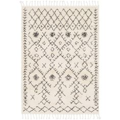 Surya Berber Shag Beige Indoor Moroccan Area Rug (Common: 10 x Actual: W x L) at Lowe's. Our rugs from the Berber Shag Collection feature striking global inspired designs that endure at the forefront of contemporary trends. The meticulously Moroccan Area Rug, Moroccan Style, Berber, Moroccan Pattern, Ethnic Patterns, Textile Patterns, Grey And Beige, Gray, Dark Grey