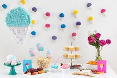 4 Simple DIYs for a Mega CHILL Snow Cone-Themed Party | Brit + Co