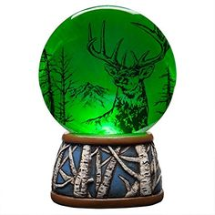 Proud Deer In Trees Light Up Waterglobe ** You can get more details by clicking on the image.