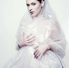 Bubble Wraptography - Model Wrapped in Plastic Packaging as Artistic Fashion Statement (GALLERY)